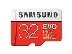 Samsung EVO Plus Grade 1, Class 10 32GB MicroSDXC 95 MB/S Memory Card with SD Adapter (MB-MC32GA/IN)