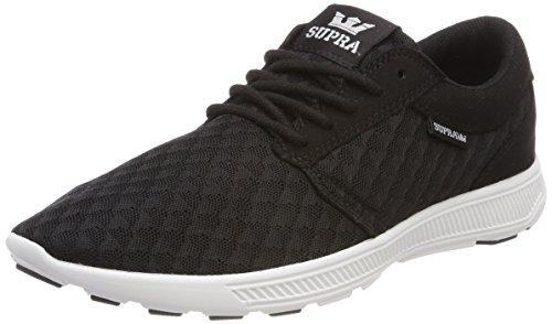 Supra Herren Hammer Run Sneaker, Schwarz (Black/LT Grey-White), 42.5 EU