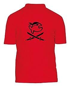 iQ-Company Kinder UV 300 Shirt Kids Jolly Fish, Red, 116, 725315-2362
