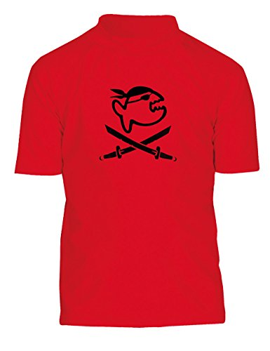 IQ Company Kinder UV 300 Shirt Kids Jolly Fish, Red, 146, 725315-2362