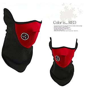 alisable atmungsaktiv Maske Motorrad Ski emissionskontrollvorrichtungen Maske Sport Staubfrei, mit Filter rot rot