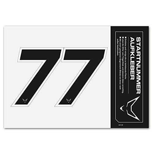 Números, números, Start Número Pegatinas Juego de 2# 7racefoxx