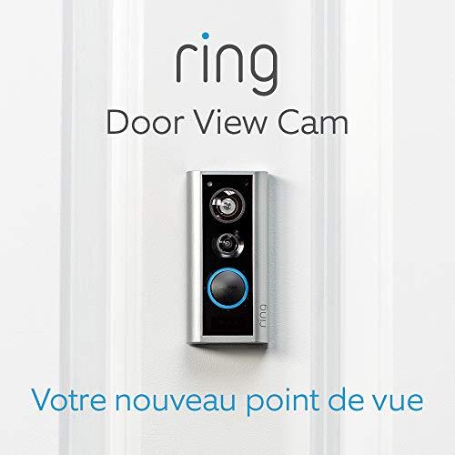 41flP6fpL%2BL [Bon Plan Ring] Ring Door View Cam   Remplacez votre judas par une nouvelle sonnette vidéo HD 1080p équipée d'un système audio bidirectionnel   Pour portes d'une épaisseur de 34mm à 55mm.