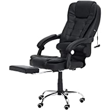 CreameBrulee Cómoda Silla de Oficina se acuesta Computer Gaming Chair Silla de Masaje Corporal