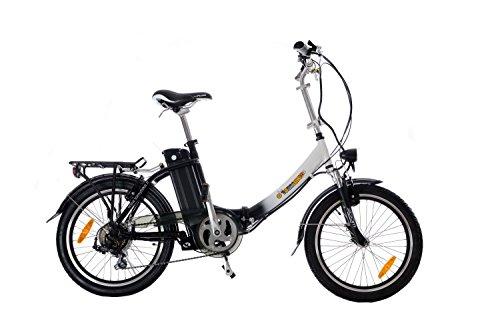 Tommybike Smart Faltrad Elektrische Unisex Erwachsene, Weiß/Schwarz