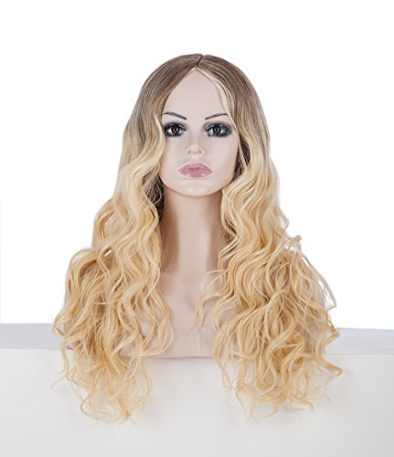 ShowPower New Beliebte Long Body Wavy Schwarz zu Blonde Frauen Perücke (Film Kostüme Beliebte)