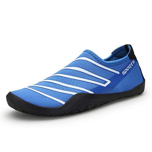 AXCONE Badeschuhe Strandschuhe Aquaschuhe Wasserschuhe Schwimmschuhe Surfschuhe Barfuß Schuhe für Damen Herren-BU 43