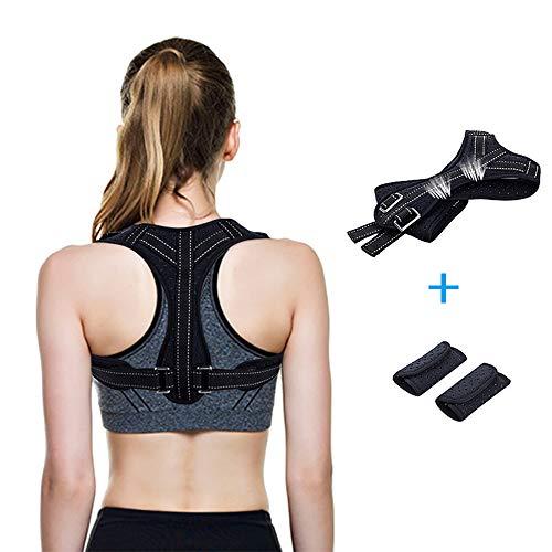 Haltungskorrektur für eine aufrechteren Haltung, Geradehalter Rücken, verstellbare Schulter Rücken Haltungsbandage (65-120cm), atmungsaktiver Haltungstrainer für Damen und Herren