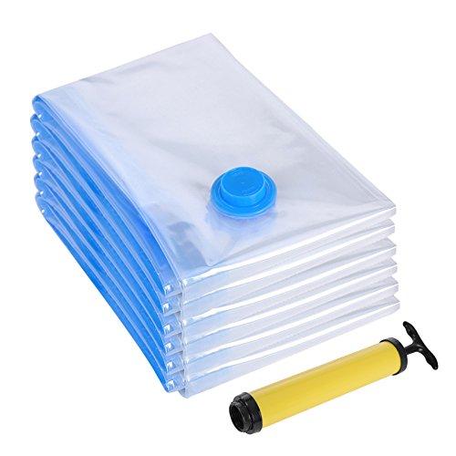 Songmics set da 6 sacchetti buste sottovuoto salvaspazio per viaggi imballaggio conservazione 40 x 60 cm rvm060