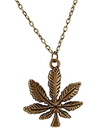 Young & Forever Men-Tastic Collection Gold Chain Maple Leaf Pendant Necklace For Men / Women / Boys / Girls N664