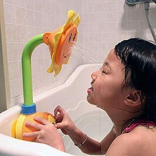 mAjglgE Sonnenblumen-Badezimmer-Wassersprühen Baddusche Kleinkinder Kinder Badespielzeug – zufällige Farbe