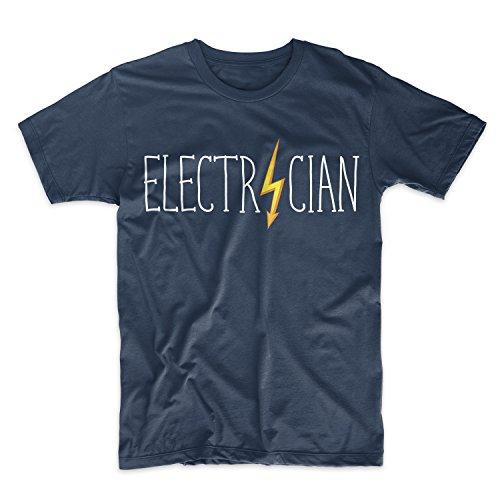 Electrician Komisch Job Title Occupation Herren T-Shirt Blau