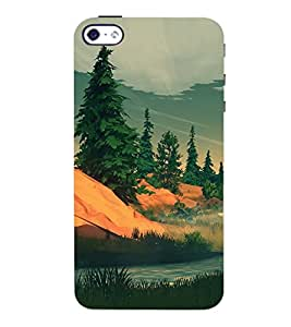 ColourCrust Apple iPhone 4 Mobile Phone Back Cover With Nature Landscape Travellers Choice - Durable Matte Finish Hard Plastic Slim Case
