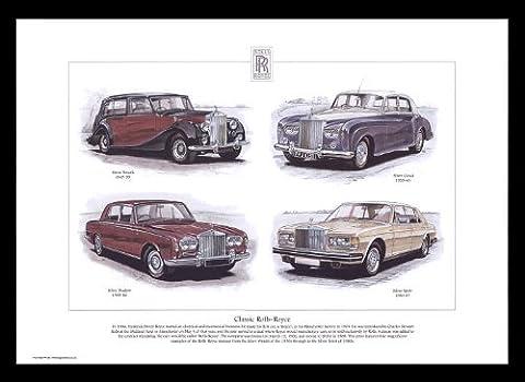 Classic Rolls-Royce Cars 1947–87 Argenté Wraith du Cloud, Argent, Silver Spirit-Ombre à Paupières-Art Print