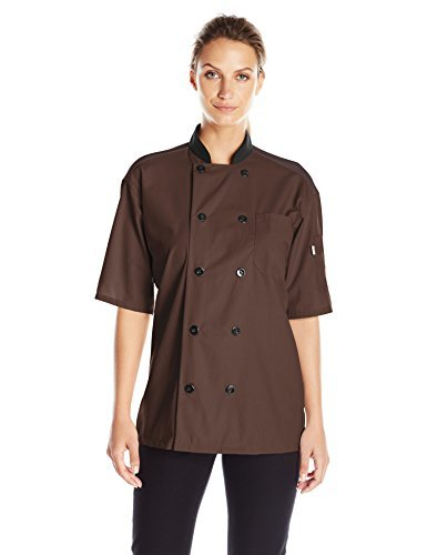 Uncommon Threads Damen Havana Chef Coat SS MESH BLK TRM BRN 3XL Work Utility Hemd, braun, XXX-Large -