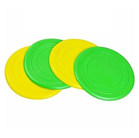 Treestar Pet Hund Bright zufällige farbigen Flying Disc, Natural Gummi schwimmfähig Frisbee Spielzeug für Welpen zu bietet Bonding Zeit mit Ihrem Haustier Hund, (Farbe zufällige)