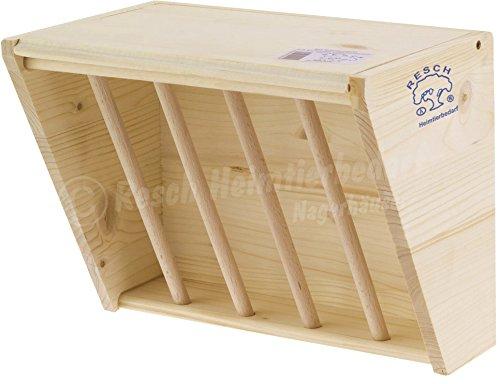 Resch Nr20 Heuraufe naturbelassenes Massivholz aus Fichte / mit aufklappbaren Deckel und Haken zum einfachen befestigen