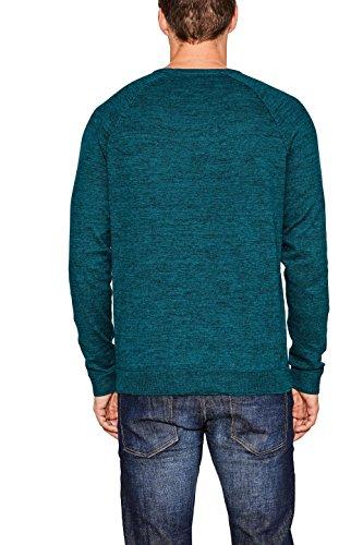 ESPRIT Herren Pullover Grün (Dark Teal Green 375)