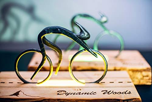 Dynamic Woods Tischlampe IRONMAN LED Vielfarbige Holz Metall Nachttischlampe Geschenke Tischleuchte