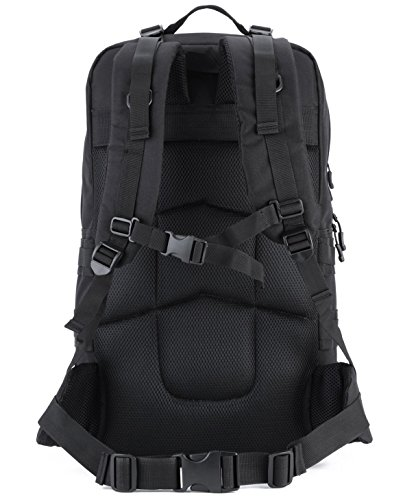 Imagen de hombre mujer bolsa de asalto táctico militar al aire libre impermeable  de acampada ciclismo sendemismo bolsa  55l, negro alternativa
