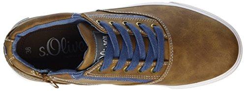 s.Oliver 55101, Sneakers Basses Garçon Marron (Cognac 305)