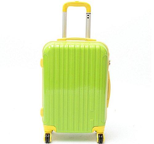 Universale all'acqua e resistente ABS viaggio trolley valigia green
