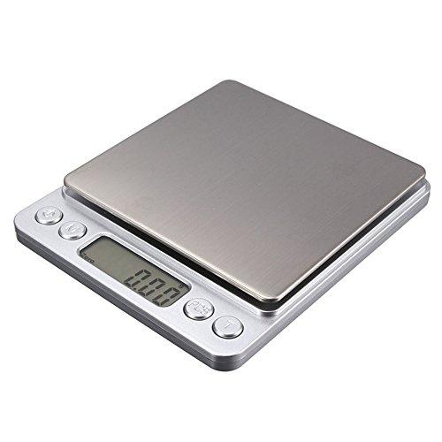 GuDoQi® 500g/0.01g Mini Escala Digital Ponderación De Joyas Balanza De Cocina Pantalla Electrónica Y Lcd G Oz Ct Gn Precisión Con 2 Bandejas