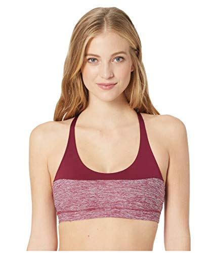 Reebok Damen Element Tri Back Active Chill Bra BH, Rustic Wine, Large
