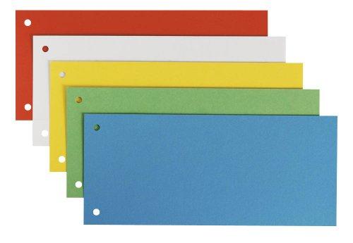 25 Leitz Trennstreifen / farbsortiert / 180 g/m² / 24,0 x 10,5 cm / für DIN A4