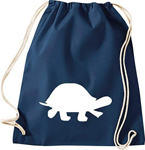 ShirtInStyle Gym Sack Turnbeutel Kultsack Tiere Schildkröte Farbe blau