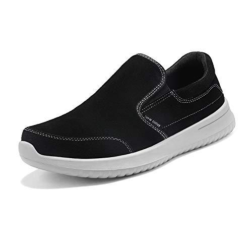 Bruno Marc Walk-Soft-01 Zapatillas Deportivo Caminar para Hombre Negro Gris 42 EU/9 US