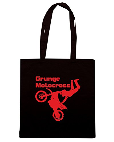 T-Shirtshock - Borsa Shopping TB0041 grunge motocross Nero