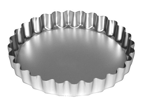 Price comparison product image Alan Silverwood Silver Anodised Loose Base Fluted Flan Tray 9in 23cm - 20094