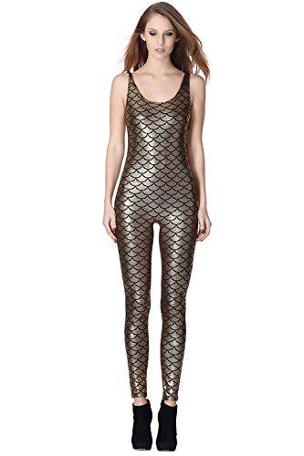 lotus-instyle-fish-scale-printing-bodysuit-women-shapewear-sexy-unitard-gold