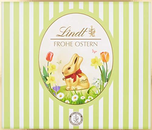 Lindt Lindor Mischpaket (mit Goldhase, 2x Goldhasen und 8x Lindor Kugel Beutel: Milch, Noisette, Feinherb, Weiß, Edelbitter, Caramel, Cappuccino und Straciatella) 1er Pack (1 x 1.2 kg)
