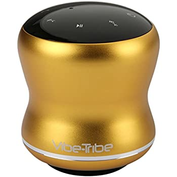 Vibe-Tribe Mamba - Lemon Yellow: 18 Watt Bluetooth Vibration Speaker con Touch Screen, Daisy-Chain, Vivavoce e Vacuum Base integrata