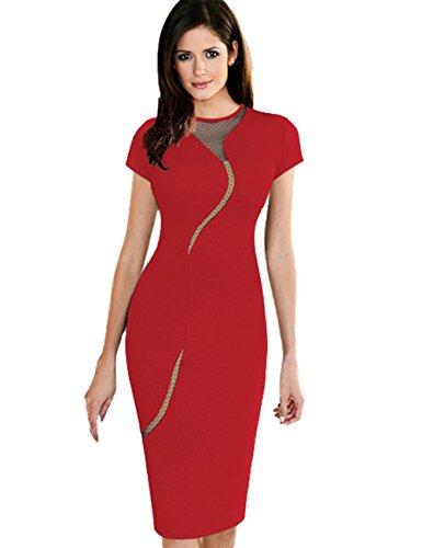 JOTHIN - Robe - Cocktail - Femme noir noir taille unique Rouge