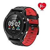 APHYC Reloj Deportivo con Bluetooth, altitud, termómetro Integrado, GPS para Fitness, Correr, Senderismo, Escalada, IP67, Impermeable, Monitor de Ritmo cardíaco, para Hombres, Mujeres y aventureros