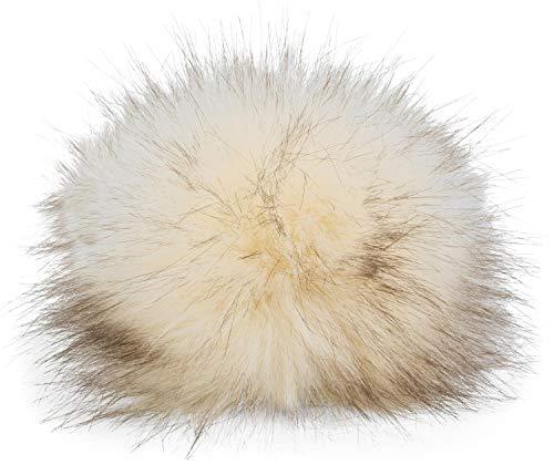 styleBREAKER Kunstfell Bommel für Mützen und Beanies, Fake Fur, Winter Fellbommel 04024161, Farbe:Creme