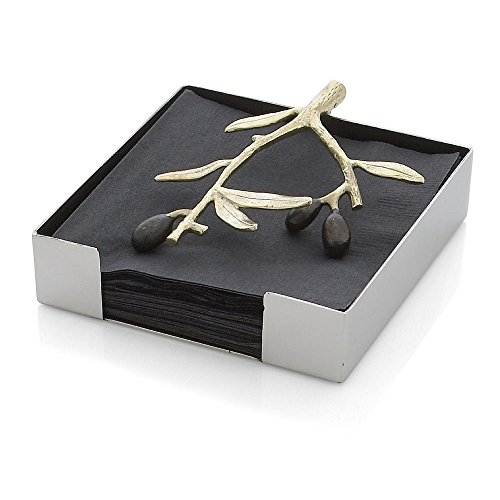 Michael Aram Olive Branch Cocktail Napkin Holder, Gold by Michael Aram Michael Aram Olive