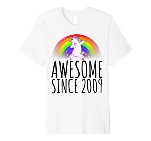 Unicorn Rainbow 2009 9 Year Old 9th Birthday T Shirt Gift