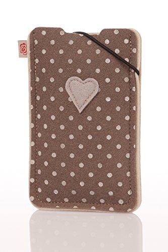 Smartphonehülle - RESI XL - hellgrau, mint, hellbraun, rosé, oliv Hellbraun