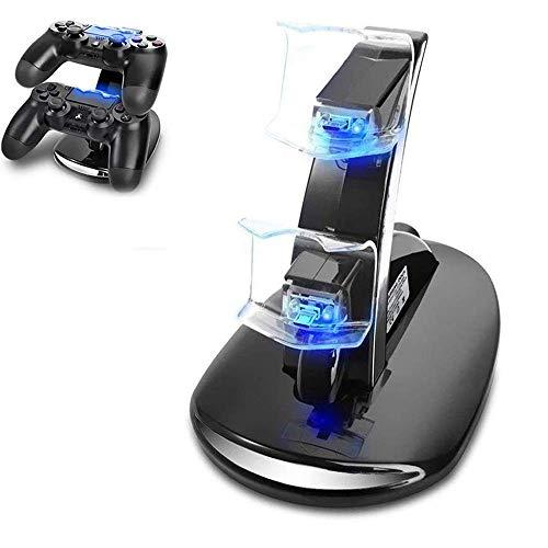 PS4 Controller Ladestation Charger, Likorlove Dualshock Docking Ladegerät Stand Mit USB Kabel und LED Für Sony Playstation 4 / PS4 Slim / PS4 Pro Game Controller (Schwarzer Stand)