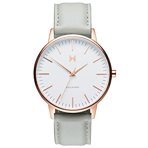 MVMT Boulevard Beverly Women's Watch with Leather Strap D-MB01-RGGR Best Price and Cheapest