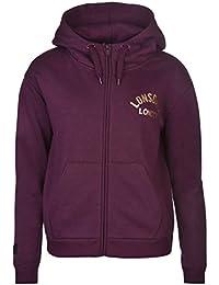 Lonsdale London Sweat zippé à capuche pour femme Berry Sweat à capuche Sweat Veste Vêtements de sport