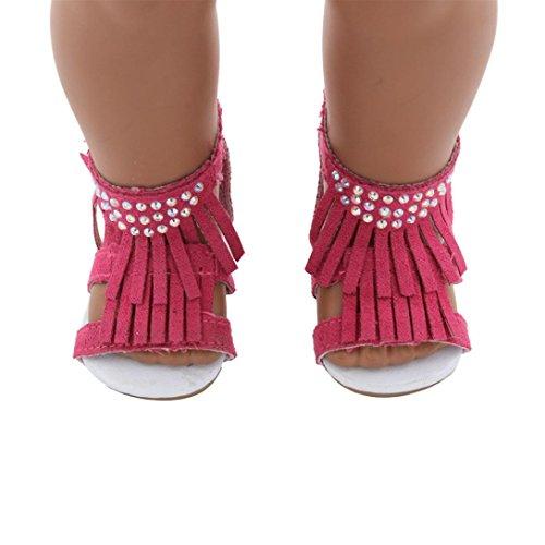 Kleider für Puppe, BZLine® Süße Baby Puppe Kleidung / Schuhe Outfit für 18 Zoll Girl Doll (B) (Bitty Baby Schuhe)