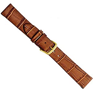 Louisiana Clip Uhrenarmband Kalbsleder Band Braun 20462G, Stegbreite:10mm