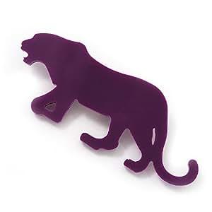 Broche Tigre acrylique pourpre