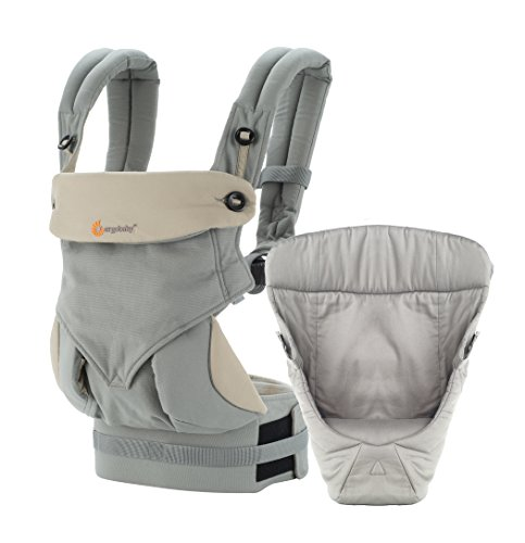 Ergobaby Easy Snug - Pack evolutivo 360 con cojín, color gris