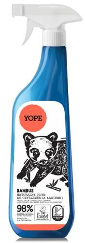 YOPE - Badreiniger mit Bambus-Extrakt und Zitronensäure - entfernt Schmutz- und Kalksteinflecken - EcoBio - biologisch abbaubar - 750 ml -